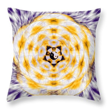 Throw Pillow featuring the drawing Flowering Emotion by Derek Gedney