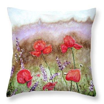 Flowering Field Throw Pillow
