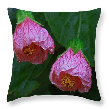 Flowering Maple Throw Pillow
