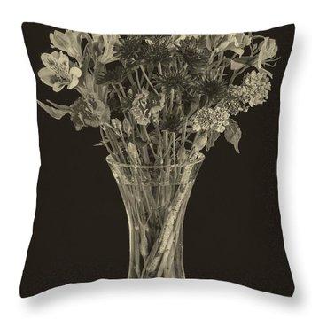 Flowers 1860s Throw Pillow by Edward Fielding
