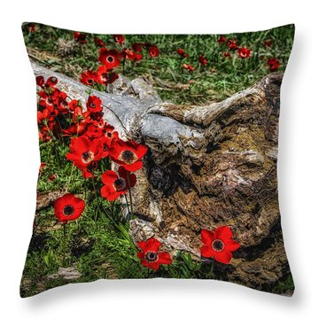 Flowers And Monster Throw Pillow
