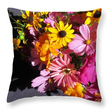 Flowers And Shadow Throw Pillow