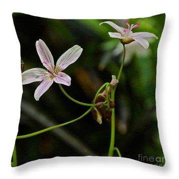 Flowers Are Smiles Throw Pillow by Byron Varvarigos