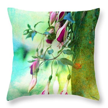 Throw Pillow featuring the photograph Flowers Bloom And Flowers Wither by John Rivera