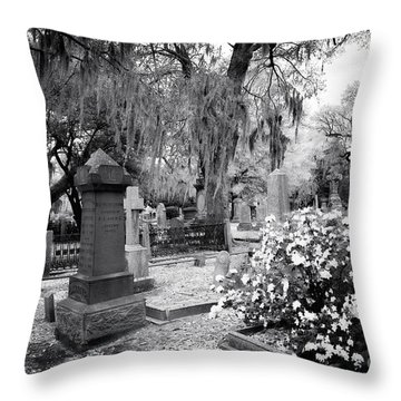 Flowers By The Grave Throw Pillow by John Rizzuto