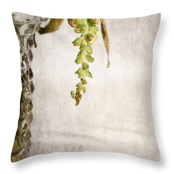 Flowers Falling Throw Pillow