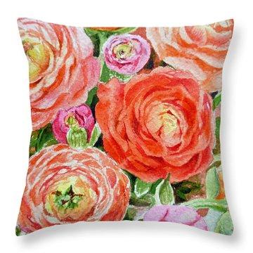 Flowers Flowers Flowers Throw Pillow