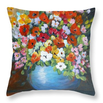 Flowers For A Friend Throw Pillow