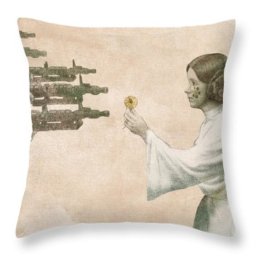 Flowers For Alderaan Throw Pillow