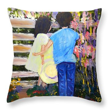 Flowers For Her Throw Pillow by Pamela  Meredith