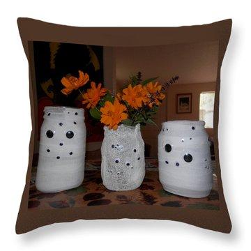 Halloween Flowers For Mummy Throw Pillow