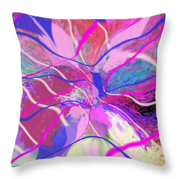 Original Contemporary Abstract Art Flowers From Heaven Throw Pillow by RjFxx at beautifullart com