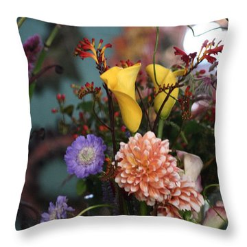 Flowers From My Window Throw Pillow