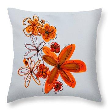 Flowers IIII Throw Pillow by Patricia Awapara