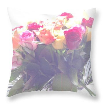 Flowers In A Dream Throw Pillow