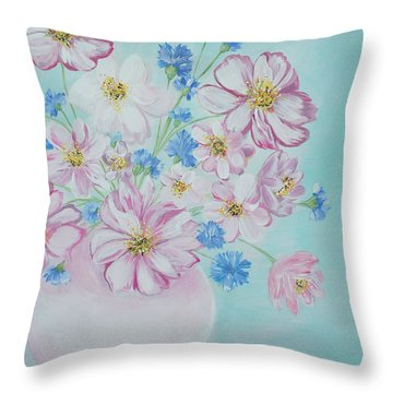 Flowers In A Vase. Inspirations Collection Throw Pillow
