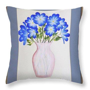 Flowers In A Vase Throw Pillow
