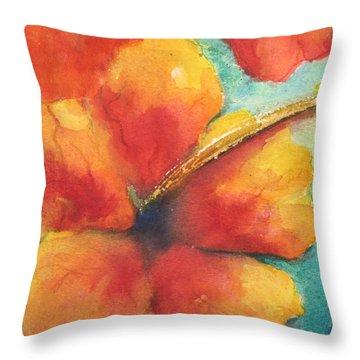 Flowers In Bloom Throw Pillow by Chrisann Ellis