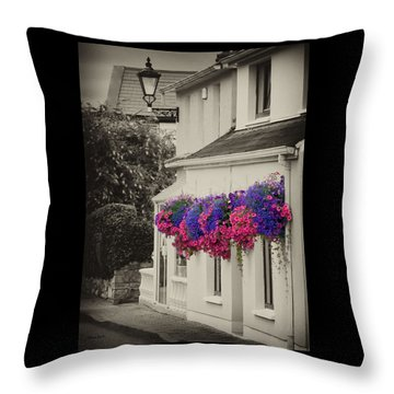 Flowers In Cashel Throw Pillow