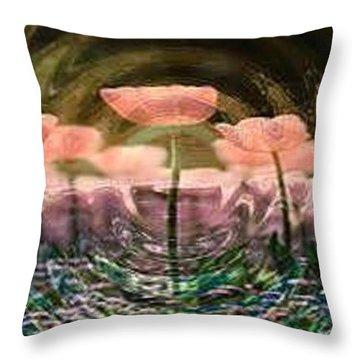 Flowers In Heat Throw Pillow by PainterArtist FIN