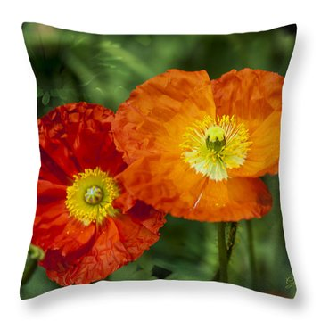 Throw Pillow featuring the photograph Flowers In Kodakchrome by Gunter Nezhoda