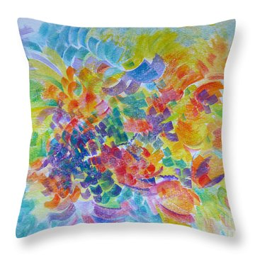 Flowers In Lavender Vase Throw Pillow