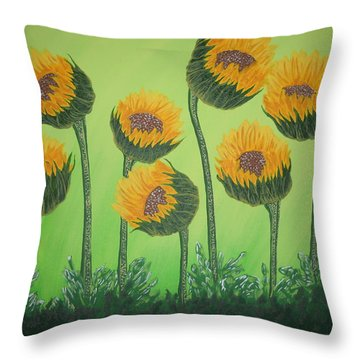 Flowers In Menopause  Throw Pillow
