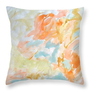 Flowers In Springtime Throw Pillow by Esther Newman-Cohen