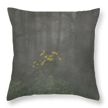 Throw Pillow featuring the photograph Flowers In The Fog by Diannah Lynch