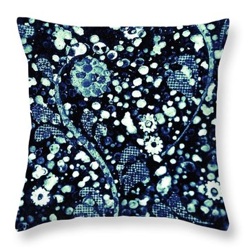 Flowers In The Rubble Throw Pillow