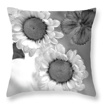 Throw Pillow featuring the photograph Flowers In Water by Christine Ricker Brandt