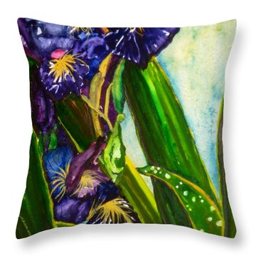 Flowers In Your Hair II Throw Pillow by Lil Taylor