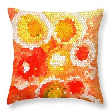 Flowers Iv Throw Pillow by Patricia Awapara
