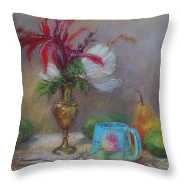 Flowers  Throw Pillow by Nancy Stutes