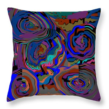 Original Contemporary Modern Art Flowers Of Life Throw Pillow