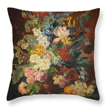 Throw Pillow featuring the painting Flowers Of Light by Mary Ellen Anderson