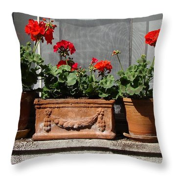 Throw Pillow featuring the photograph Flowers Of New York by Ira Shander