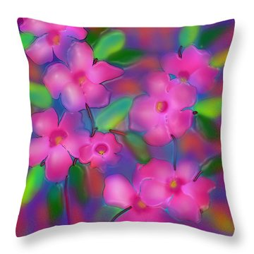 Flowers Of October Throw Pillow by Latha Gokuldas Panicker