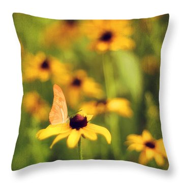 Flowers Of Summer Throw Pillow by Darren Fisher
