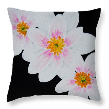 Flowers Of The Night Throw Pillow by Celeste Manning