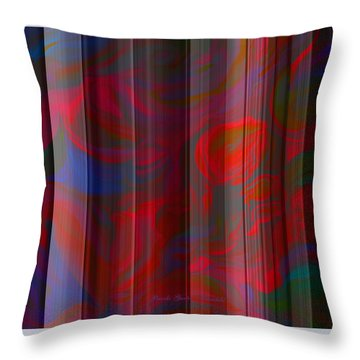 Flowers On The Wall - Created From My Original Painting Aria Throw Pillow