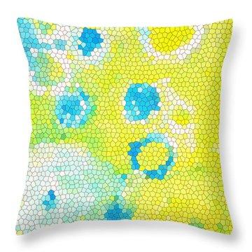 Flowers V Throw Pillow by Patricia Awapara