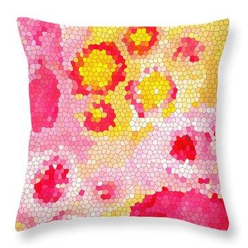 Flowers Vii Throw Pillow by Patricia Awapara