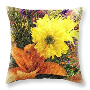 Throw Pillow featuring the photograph Flowers With Love by Luther Fine Art