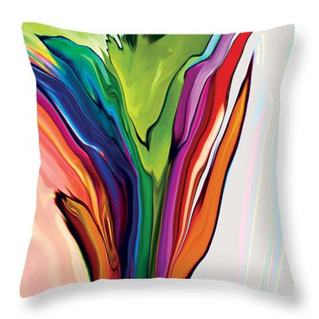 Flowery 5 Throw Pillow