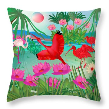 Flowery Lagoon - Limited Edition 1 Of 20 Throw Pillow