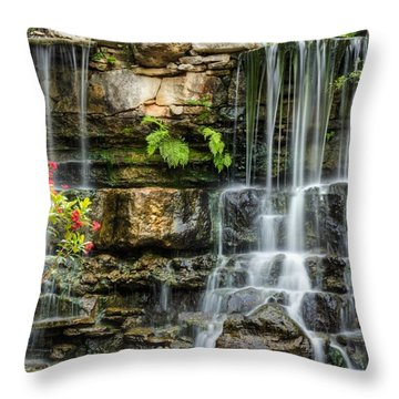 Throw Pillow featuring the photograph Flowing Falls by Dave Files