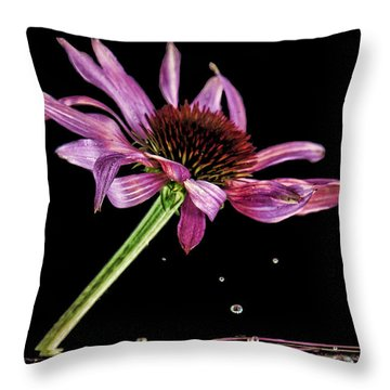 Flowing Flower 6 Throw Pillow by John Crothers