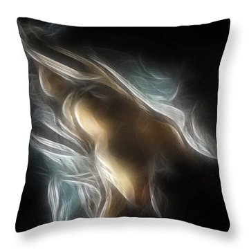 Flowing Nude 3689 Throw Pillow by Timothy Bischoff