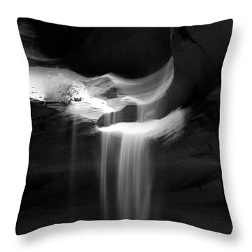 Flowing Sand In Antelope Canyon Throw Pillow
